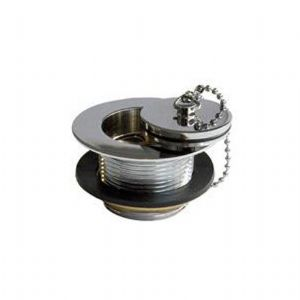 6714 Perrin & Rowe Unslotted Bath Waste, Plug And Chain
